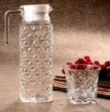 ガラス飲み物の水差しのオレンジガラス水差しの熱湯の水差し