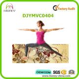 Прочная циновка йоги гимнастики природного каучука, с держателем циновки Tote