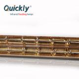 Vidro de quartzo de onda curta revestimento dourado lâmpada de aquecimento por infravermelhos