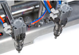 Machine de remplissage liquide de Duel-Tête pneumatique compacte