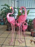 Gift 1 van het Ornament van het Beeldhouwwerk van de Flamingo van de Kunst van de tuin Roze