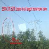 Doppia torretta della trasmissione di tangente del circuito di Megatro 220kv 2D2 Szck