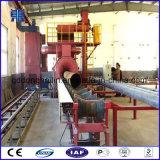 Explosionador sin polvo de la pared del tubo de acero de la máquina interna del chorreo con granalla