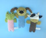Juguete relleno del animal de animal doméstico de la felpa con la cuerda y el Squeaker