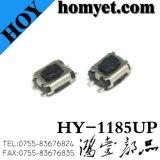 Interruptor de tacto de alta qualidade com 3.5*4.6*2,5Mm Base preta de quatro pinos botão branco SMD