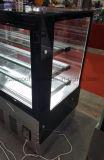 De mist Vierkante Glas Gekoelde Showcase van het Gebakje met LEIDENE Verlichting