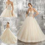 Китай Sexy валика клея Crystal Ballgown устраивающих платье для свадьбы (8194)