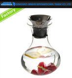 800ml löschen Glaswasser-Tee-Krug mit Bambuskappen