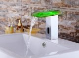 LED Glass Automatic Cold e Hot Faucet