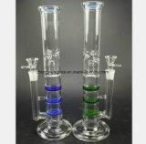 Blaues und grünes Filter-Glas-Rauch-Rohr
