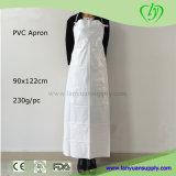 Avental de PVC impermeável com fácil laços e Corns Botão na cor branca