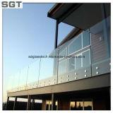 6-15mm niedriges Eisen-Hartglas, das freie ausgeglichenes Glas-Balustrade mit der Eisenbahn befördert