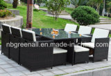6 Pessoas Dining Cube Rattan Outdoor Furniture Set