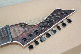 Hanhai Musique / noir 8-string guitare électrique avec pont fixe