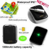 Sos 경보 Y21를 가진 IP67waterproof 가장 새로운 개인적인 소형 GPS 추적자