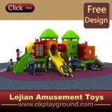 Tour de la diapositive en plastique de plein air double équipement préscolaire pour les bambins (X1511-7)