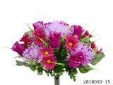 인공 적이고 Plastic/Silk Flower Rosebud/Chrysanthemum/Daisy Mixed 부시 (2818050-19)