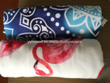 حارّ [مندلا] غطاء مع أهداب نظام يوغا حصيرة [بش توول] مستديرة