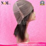 7A品質の赤ん坊の毛を搭載するインドの編みこみの完全なレースのかつら顧客用人間の毛髪のかつら8-30インチの