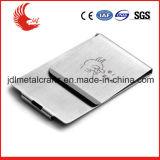 Vente en gros de clip d'argent de logo de matériau et de laser d'acier inoxydable
