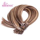 バージンの人間のRemyの毛、6A等級のブラジルの毛の拡張