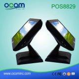 Barato Color Negro PC todo en uno de escritorio caja registradora electrónica Sistemas POS