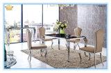 Mesa de centro elevada do vidro do lustro do preto moderno da sala de visitas