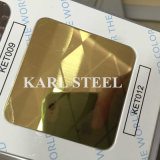 Feuille d'or d'acier inoxydable du miroir 410
