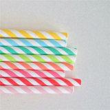 De kleurrijke Gestreepte het Drinken van het Document Stok van het Document van het Stro