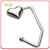 Promoção Gift Hot Sale Heart Nickel Plated Bag Holder