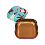 Petite nouvelle boîte colorée carrée de bidon de bijoux (S001-V11)
