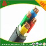 Cable de transmisión aislado XLPE de cobre de los cables y de los alambres de /Electrical del cable del PVC de la base de Yjv
