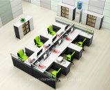 Sitio de trabajo recto del diseño moderno con 6 asientos de la persona (HF-YZQ520)