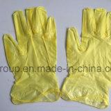 Claro descartáveis pelo/Amarelo/Powded Luvas de vinil para a indústria alimentar