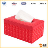 Retângulo elegante caixa de tecido de couro (SP-LTB002)