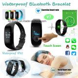 Водоустойчивый браслет Bluetooth франтовской с монитором тарифа сердца (V7)