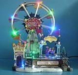 """クリスマスの装飾12 """" 8つのクリスマスの歌のLED観覧車"""