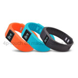 À prova de salpicos Smart Bluetooth bracelete de silicone com Fitness Tracker Tw64