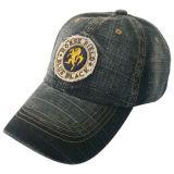 Gewaschene Denim-Vati-Hut-Schutzkappe mit Nizza Firmenzeichen Gjdm1103
