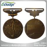 Il metallo su ordinazione di prezzi di fabbrica mette in mostra la medaglia per i regali del ricordo
