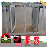 이중 유리로 끼워진 호주 표준 Windows 여닫이 창 Windows