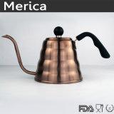 Acciaio inossidabile Pover di Rosegold sopra il POT del caffè