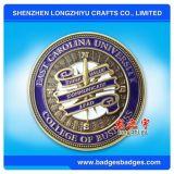 Изготовленный на заказ глянцеватое золото/глянцеватым выбитая серебром монетка, бросая монетка металла 3D