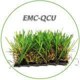 Искусственная дерновина травы (пряжа формы c) с светом - пряжа желтого цвета и цвета Brown курчавая для напольного парка ландшафта
