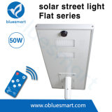 Luz solar do jardim da rua com exemplo da lâmpada de rua