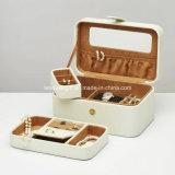 Кожаный коробка ювелирных изделий с коробкой подарка подноса
