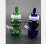 6.7 Zoll des Schwarz-, grüne Flasche der GlasHuka