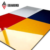 Новый дизайн кухни кабинет желтого цвета PE алюминиевые панели Coposite (AE-108)
