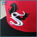 Cappello acrilico di Snapback del berretto da baseball rosso di Snapback con il marchio su ordinazione