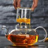 Potenciômetro de vidro nórdico do vidro dos utensílios de mesa do jogo de chá do presente do potenciômetro do chá